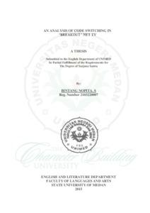 An Analysis Of Code Switching In Breakout Net Tv Digital Repository Universitas Negeri Medan