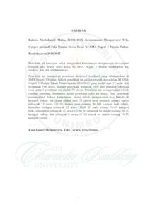 Kemampuan Mengonversi Teks Cerpen Menjadi Teks Drama Siswa Kelas Xi